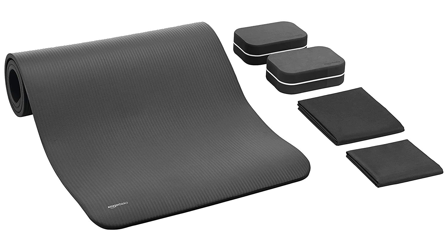 Amazon Basics 13mm Extra Thick Yoga and Exercise Mat with Carrying Strap
