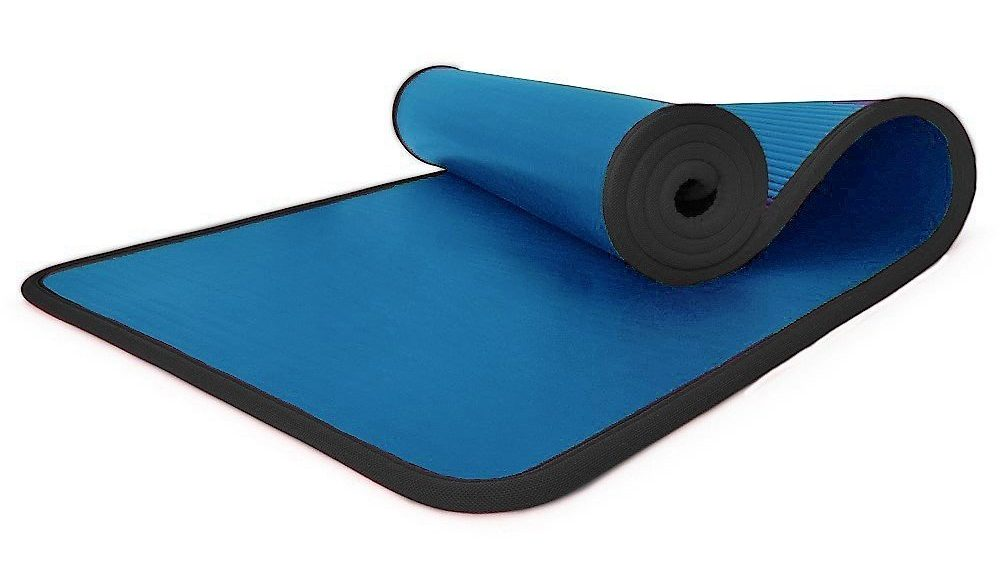 i-Heir 6 mm Thick High-Density Anti-Tear Exercise Power Yoga Mat with Stitched Edges